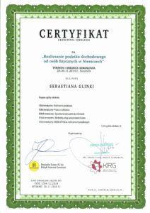certyfikat podatki
